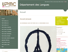 Tablet Preview of langues.ent.upmc.fr
